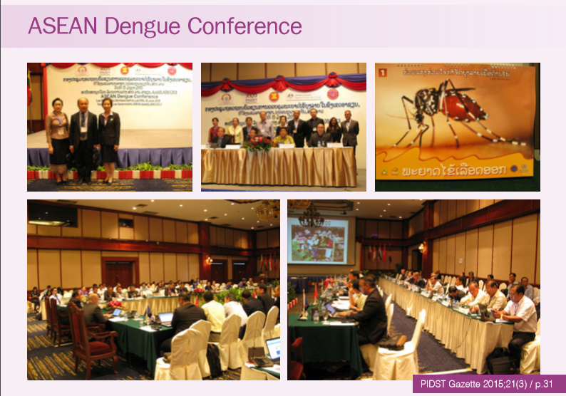 ASEAN Dengue Conference, Vientiane Capital, Lao PDR 14-15/6/2015